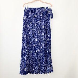 LuLaRoe Deanne Skirt Floral Accordion Pleats #2947